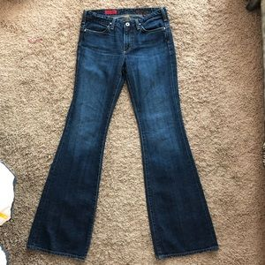 AG low rise flare jeans